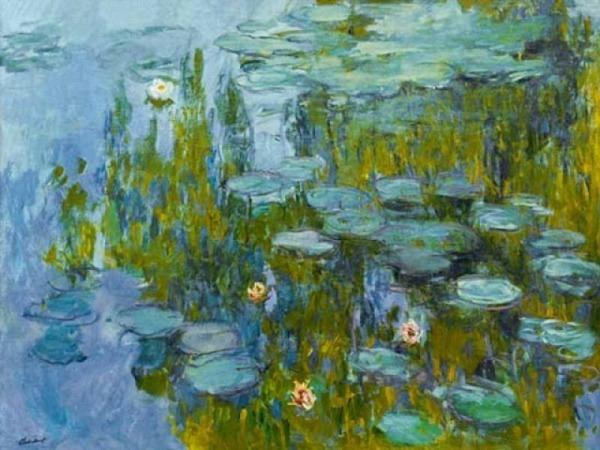 Karte Kunstverlag Claude Monet Seerosen von 1917