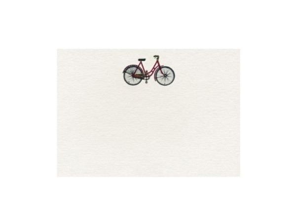 Karte Artoz Stahlstich A6, rotes Fahrrad