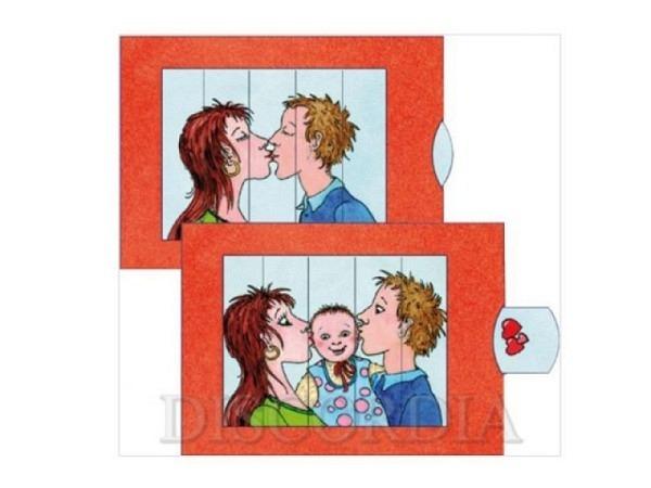 Karte Die Lebende Karte Kuss, 10,4x14,4cm