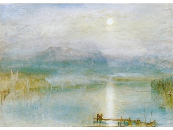 Karte Kunstverlag J.M. William Turner Vierwaldstättersee.