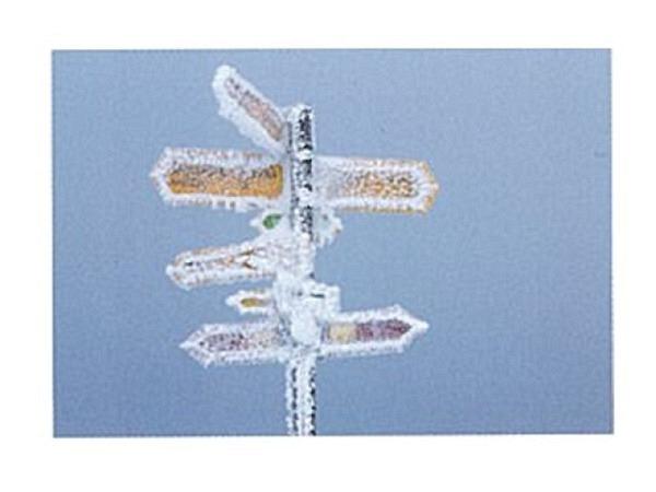 Karte Art Bula 12,2x17,5cm Wanderwegtafeln mit Rauhreif