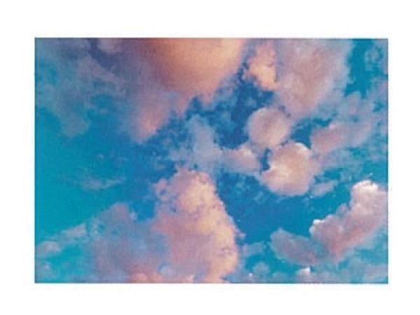 Karte Art Bula 12,2x17,5cm blauer Himmel mit pinken Wolken