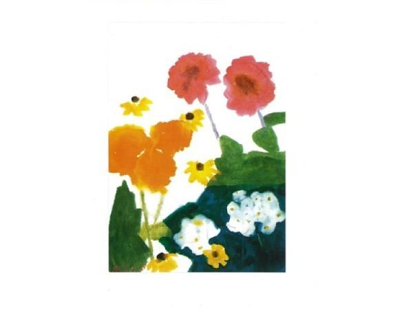 Karte Reiter Gehr Ferdinand Sommerblumen, weiss