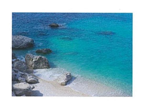 Karte Art Bula 12,2x17,5cm Strand, Steine, und klares Wasser