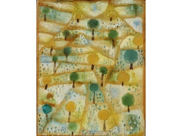 Karte Kunstverlag Paul Klee Kleine rhythmische Landschaft.