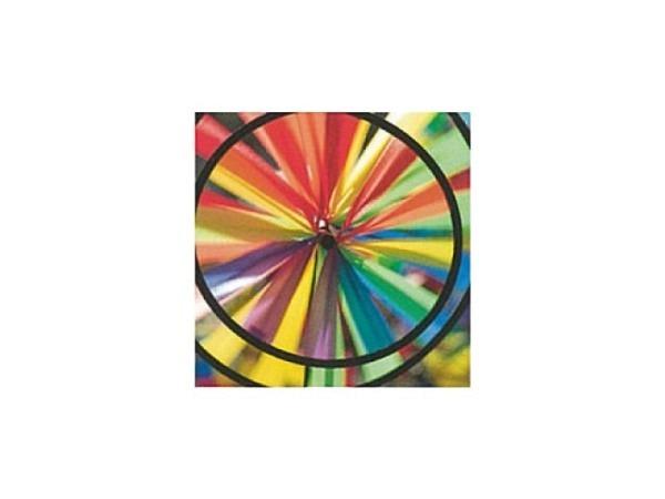 Karte Art Bula 12,2x12,2cm Regenbogenfarbenes Windrad