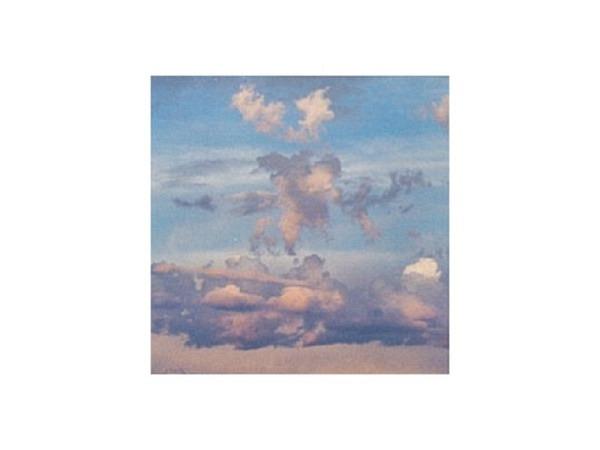 Karte Art Bula 16,8x16,8cm Wolken im Sonnenuntergang
