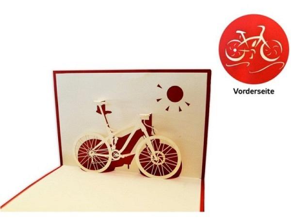 Karte Hervorragend Pop Up Fahrrad, A6, rot