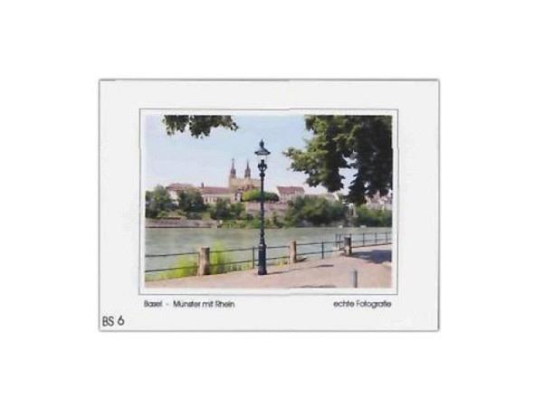 Karte Elite Cards Basel A5 Münster mit Rhein