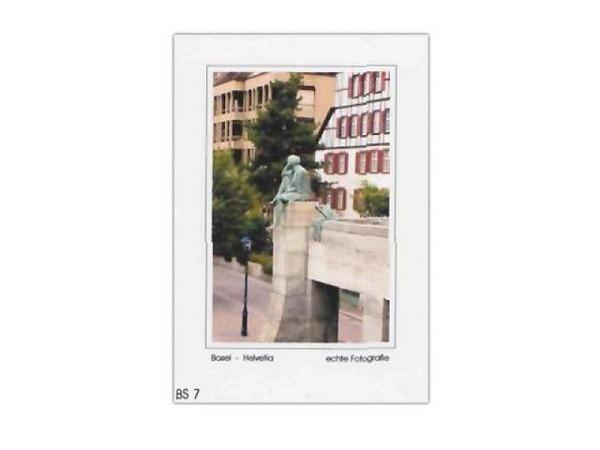 Karte Elite Cards Basel A5 Helvetia-Statue