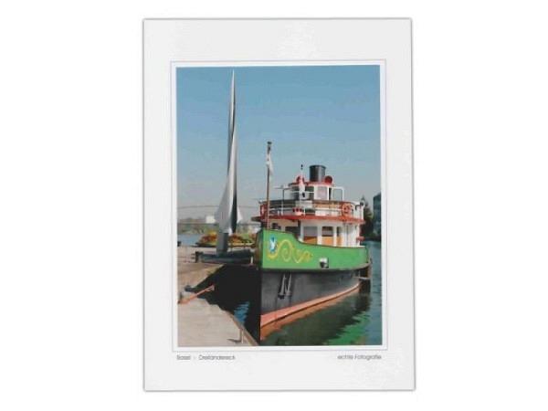Karte Elite Cards Basel A5 Dreiländereck mit Schiff