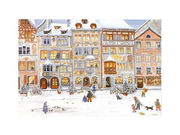 Karte Weihnachtsdorf von Ursula Stadler A5