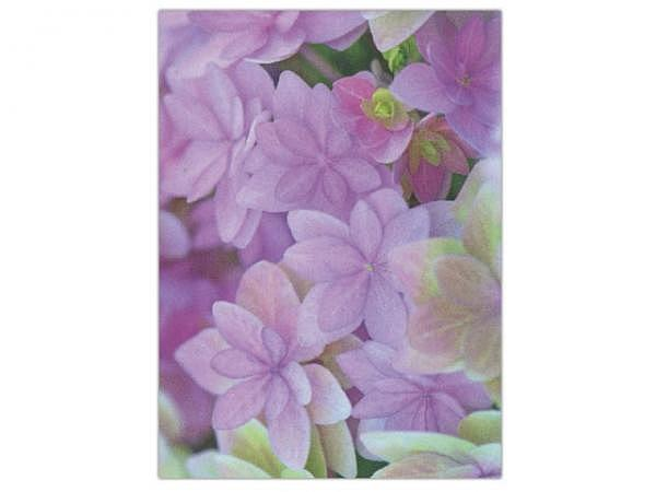 Karte Art Bula 14,8x21cm lila Blüten Sternenform, A5