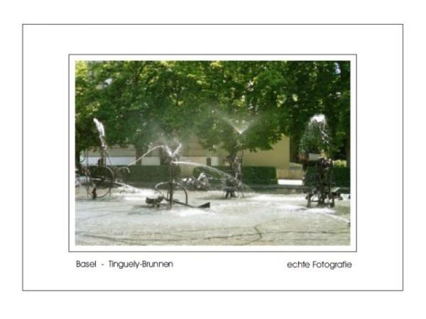 Karte Elite Cards Basel A5 Tingueli-Brunnen
