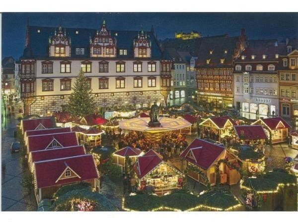 Karte ABC Winterkarte Weihnachtsmarkt 12x17,5cm