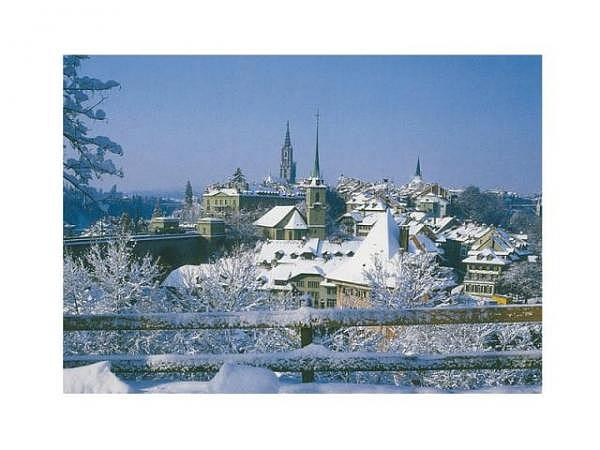 Karte Wefo-Verlag Winter Bern 5er Box Münster 10,5x14,7cm