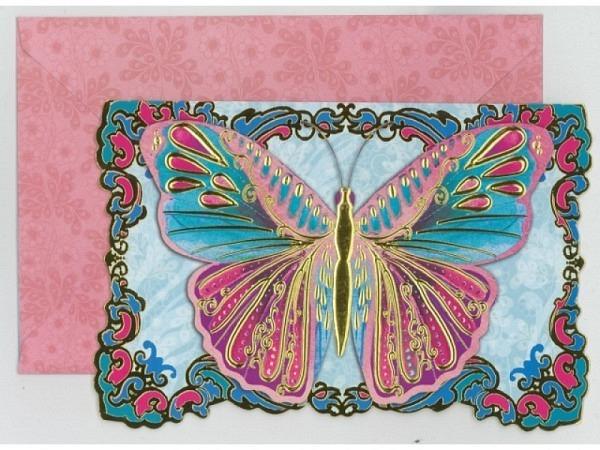 Kartenbox Punch Studio Pink Butterfly 10er Set