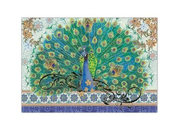 Kartenbox Punch Studio Royal Peacock, Kartonständer 20er Set