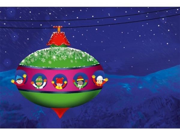 Kartenbox Unicef Christmas Ride 17,3x11,7cm, 5x2 Motive