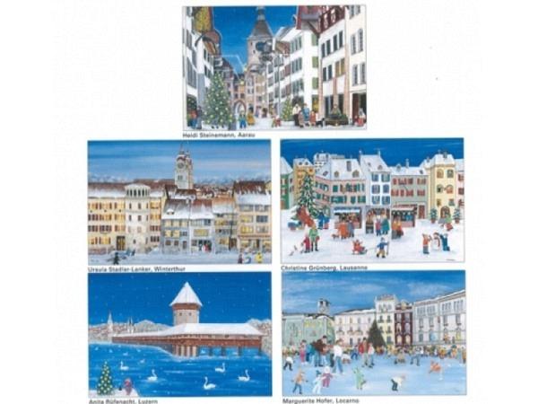 Kartenbox Unicef Christmas in the City, 11,7x17,3cm
