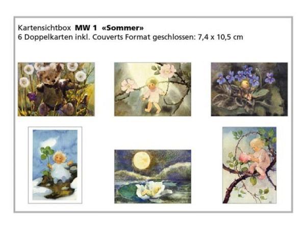 Kartenbox Weber Mili Sommermotive 6 Doppelkarten