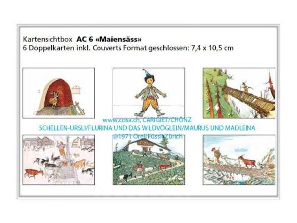 Kartenbox Carigiet Alois Maiensäss Schellenursli 6 Stk