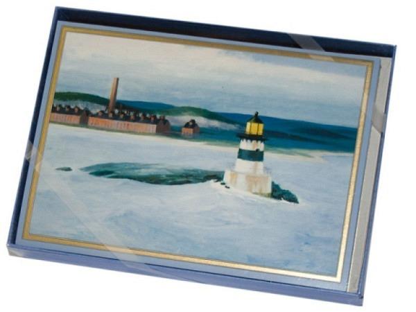 Karte Caspari 8er Set, Hopper, 10,5x14,8cm