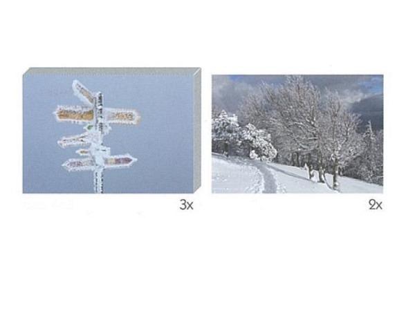Kartenbox Art Bula 5er Set Wegweiser und Spur im Schnee