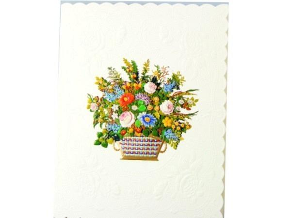 Karte Paula Skene 8er Set Blumenbouquet in einem geflocht. …