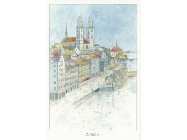Kartenbox ABC Städtekarten Zürich 11,5x17cm