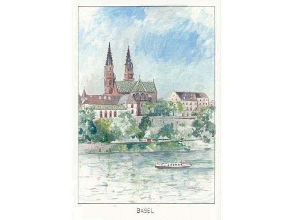 Kartenbox ABC Städtekarte Basel gemalen 6er Set