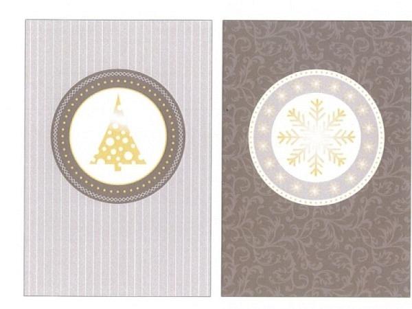 Kartenbox Unicef Christmas Symbols 11,7x17,3cm, 5x2 Karten