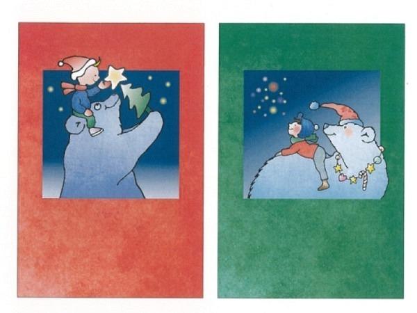 Kartenbox Unicef Christmas bear 11,7x17,3cm, 5x2 Motive