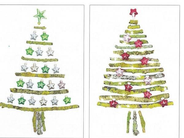 Kartenbox Unicef Christmas Tree 11,7x17,3cm, 5x2 Motive