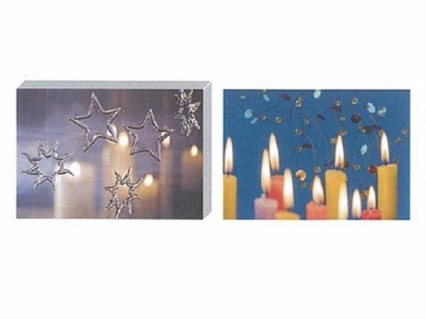 Kartenbox Art Bula 5er Set 12,2x17,5cm Glaskugeln und Kerzen