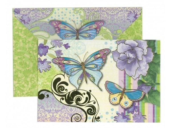 Kartenbox Punch Studio Watercolour Butterfly 10er Set