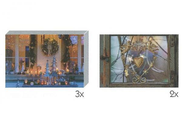 Kartenbox Art Bula Set 7,4x10,5cm, weihnachtlich dekoriert