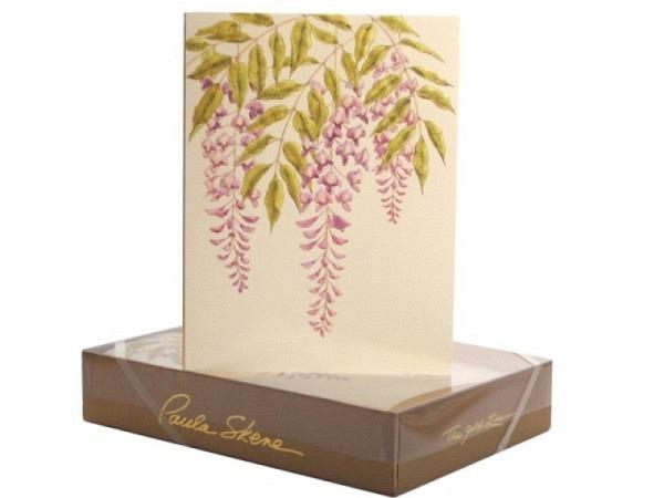 Karte Paula Skene Wisteria 8er Set mit violetten Blumen