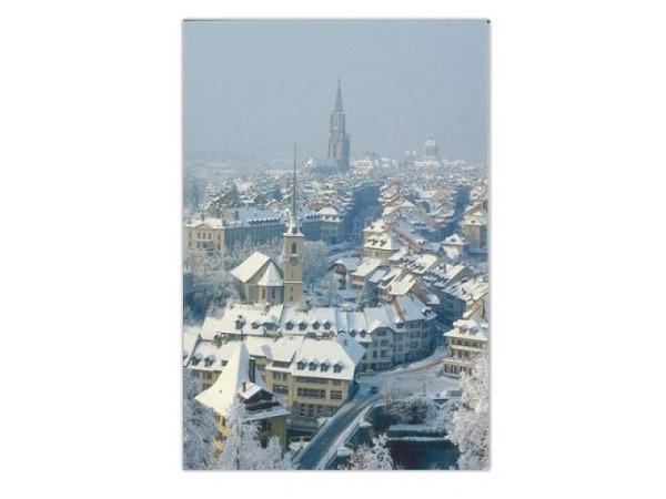 Karte Wefo-Verlag Winter Bern 5er Box Nydeggkirche 10,5x14,7