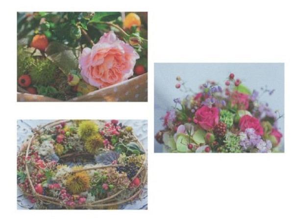 Kartenbox Art Bula 5er Set Rosen-Bouquets und Kränze