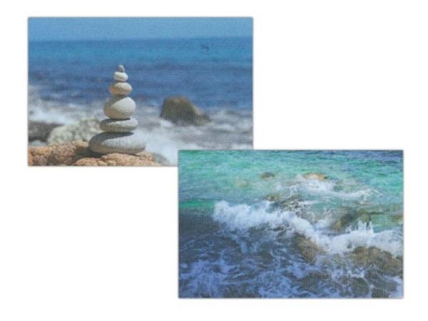 Kartenbox Art Bula 5er Set, 7,4x10,5cm Wasser und Steine