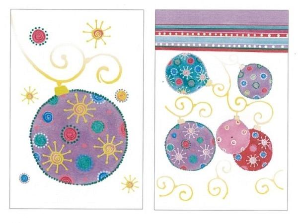 Kartenbox Unicef Christmas Ornaments 11,7x17,3cm, 5x2 Motive