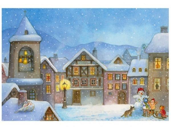 Weihnachtskartenbox Unicef Christmas Shop Windows, 5x2 Motive