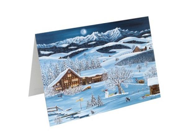 Weihnachtskartenbox Unicef In the Country 11,7x17,3cm