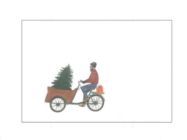 Weihnachtskartenbox Carol Wilson 10er Set Traditional mit Christbaumkugeln