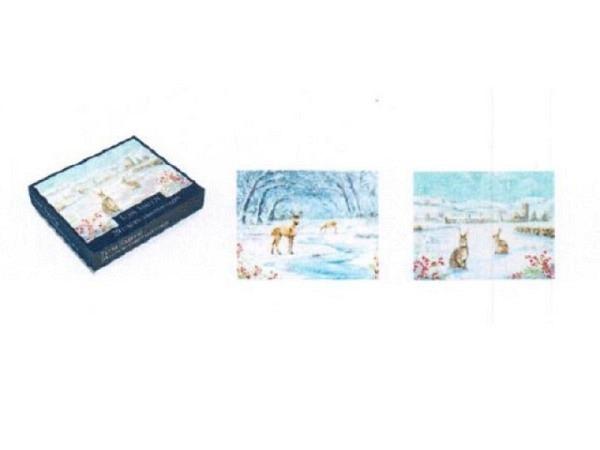 Weihnachtskarte Art Bula 5er Set 7,4x10,5cm Weihnachtskugeln