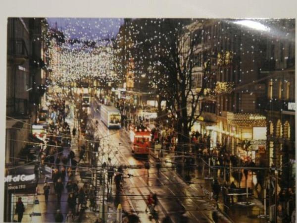 Weihnachtskarte Sternenhimmel blau 16x16cm quadratisch