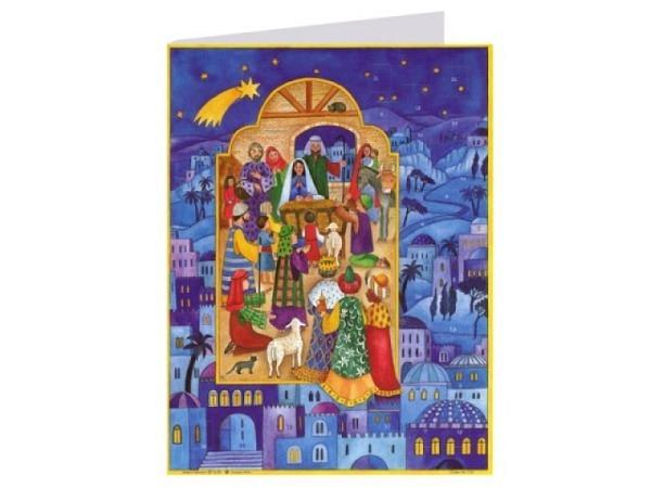 Adventskarte Sellmer Nr.40039 Betlehem Stern