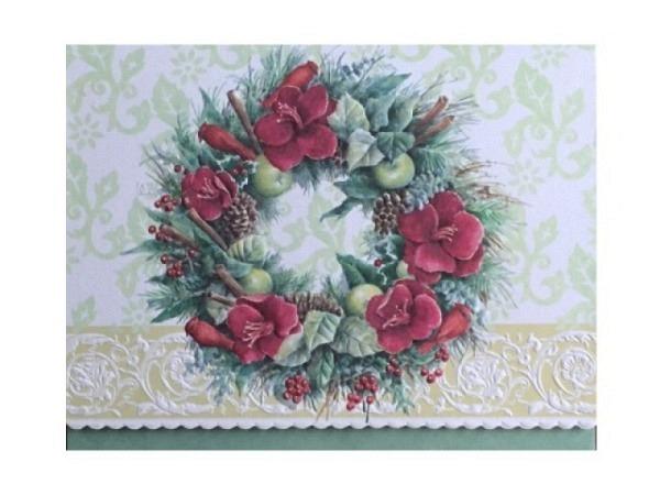 Weihnachtskarte ABC Holzhirsch im Baum 10,5x15cm 5er Set