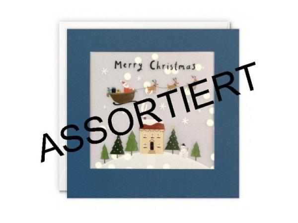 Weihnachtskarte Gollong Nikolausgalerie kleiner Bilderrahmen